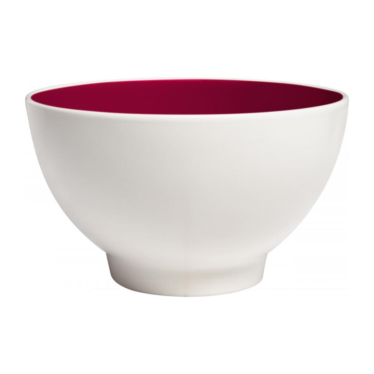 Bowl made of sandstone, white and burgundy n°1