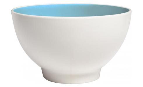 Bowl made of sandstone, white and light blue