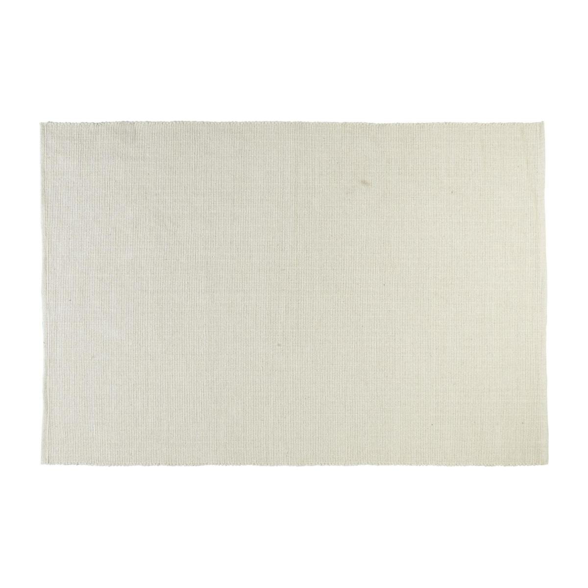 Flat hand-tufted cotton rug 120 x 180 n°1