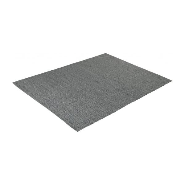 gilmore tapis tiss plat 120x80cm en coton gris fonc. Black Bedroom Furniture Sets. Home Design Ideas