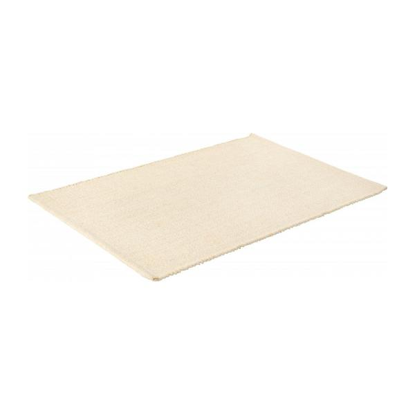 gilmore tapis tiss plat 60x90cm en coton beige habitat. Black Bedroom Furniture Sets. Home Design Ideas