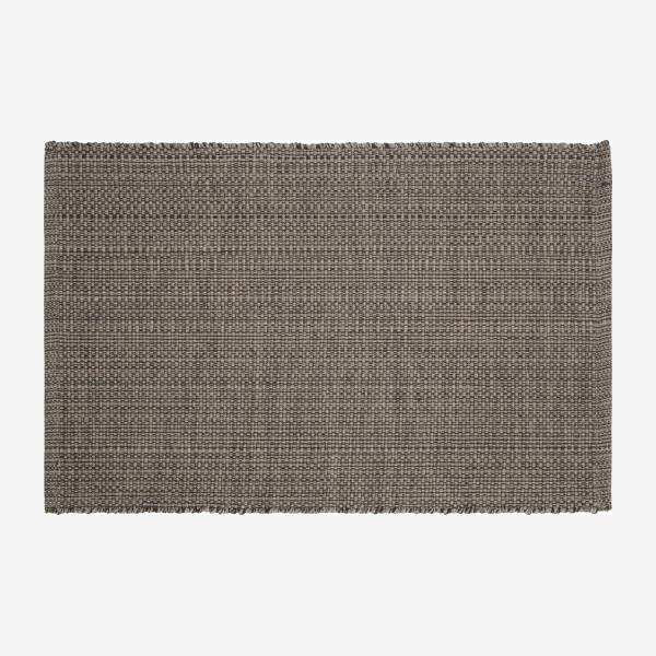 Flat hand-tufted cotton rug 60 x 90