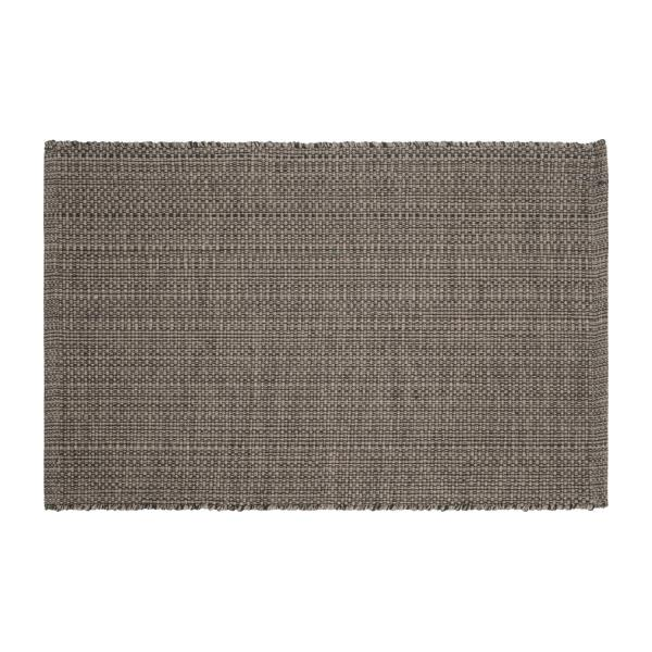 gilmore tapis tiss plat 60x90cm en coton gris fonc. Black Bedroom Furniture Sets. Home Design Ideas
