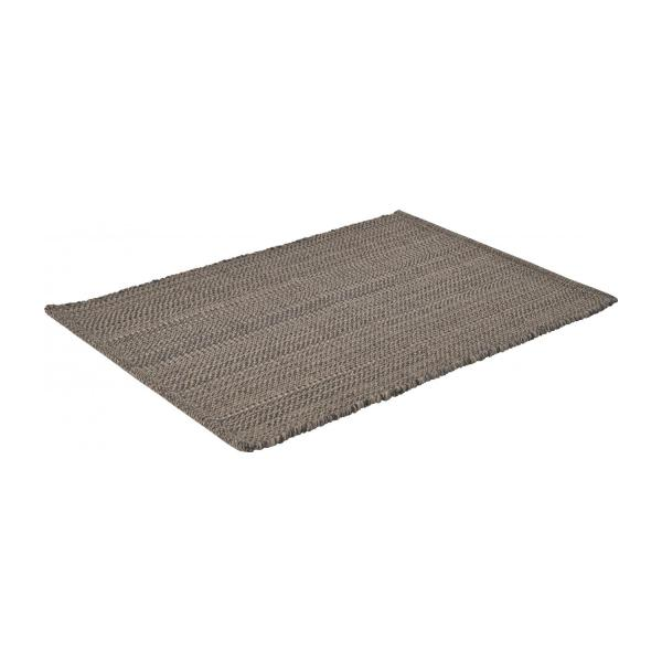 gilmore tapis tiss plat 60x90cm en coton gris fonc habitat. Black Bedroom Furniture Sets. Home Design Ideas