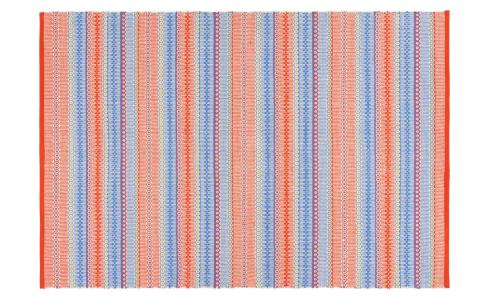 Flat-woven carpet  120x180, red and blue