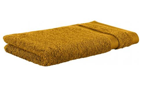 Towel made of cotton 30x50cm, yellow mustard