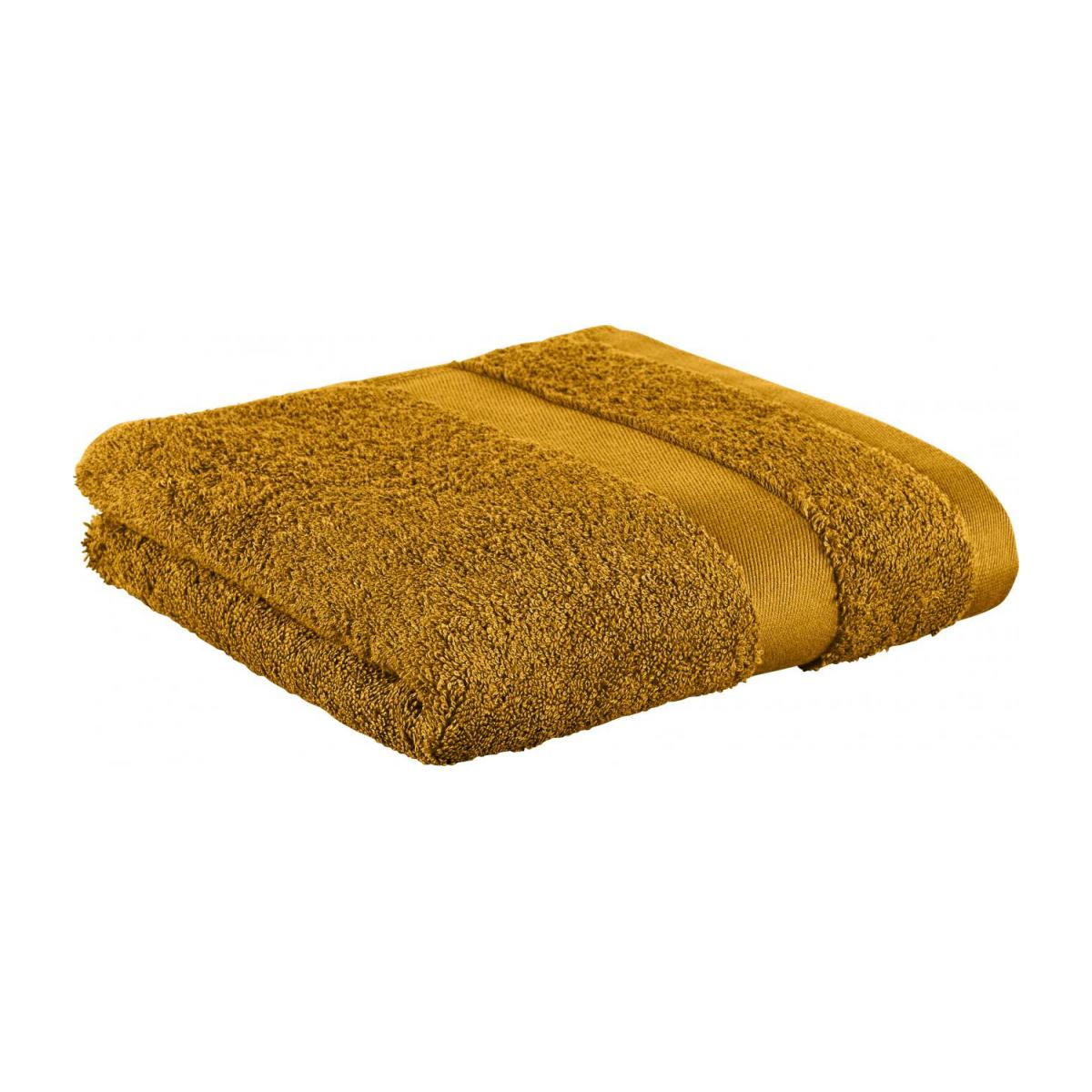 Towel made of cotton 50x100cm, yellow mustard n°1