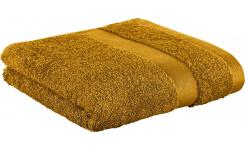 Towel made of cotton 50x100cm, yellow mustard