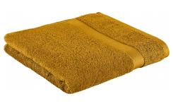 Bath towel made of cotton 70x135cm, yellow mustard