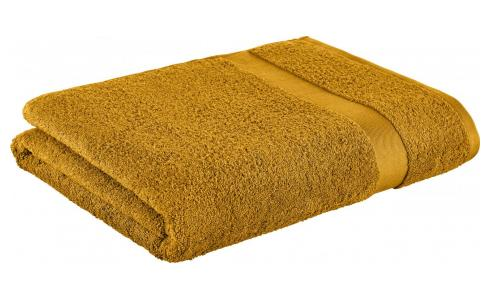 Bath sheet made of cotton 100x165cm, yellow mustard