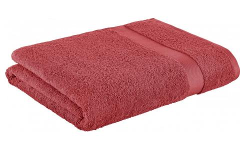 Bath sheet made of cotton 100x165cm, coral