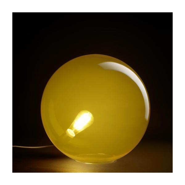 Lamp made of glass 40cm, yellow n°2