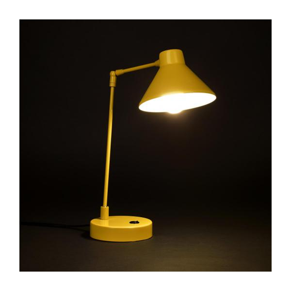 Desk lamp made of metal, yellow n°2