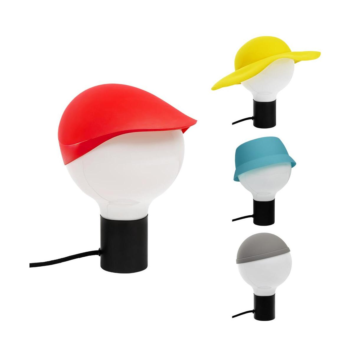 funky lampe de bureau avec chapeaux en silicone habitat. Black Bedroom Furniture Sets. Home Design Ideas