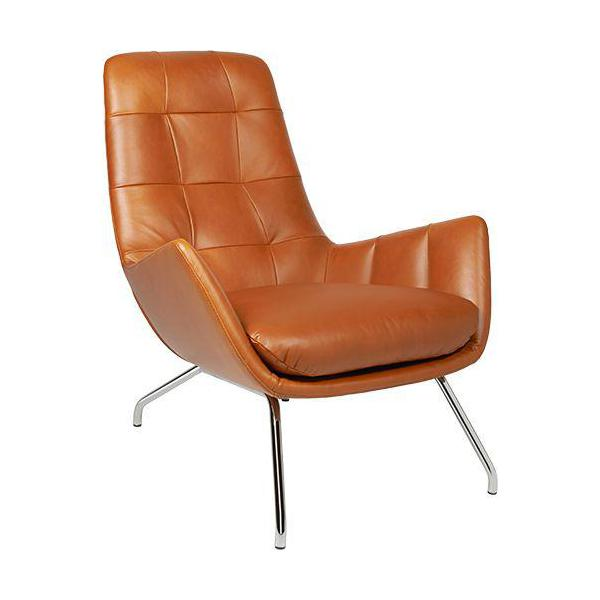 Dena Fauteuil En Cuir Aniline Vintage Leather Old