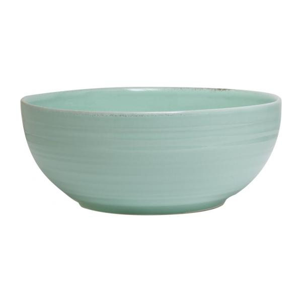 Green earthenware salad bowl 25cm n°1