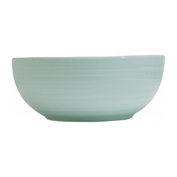 Green earthenware salad bowl 25cm n°2