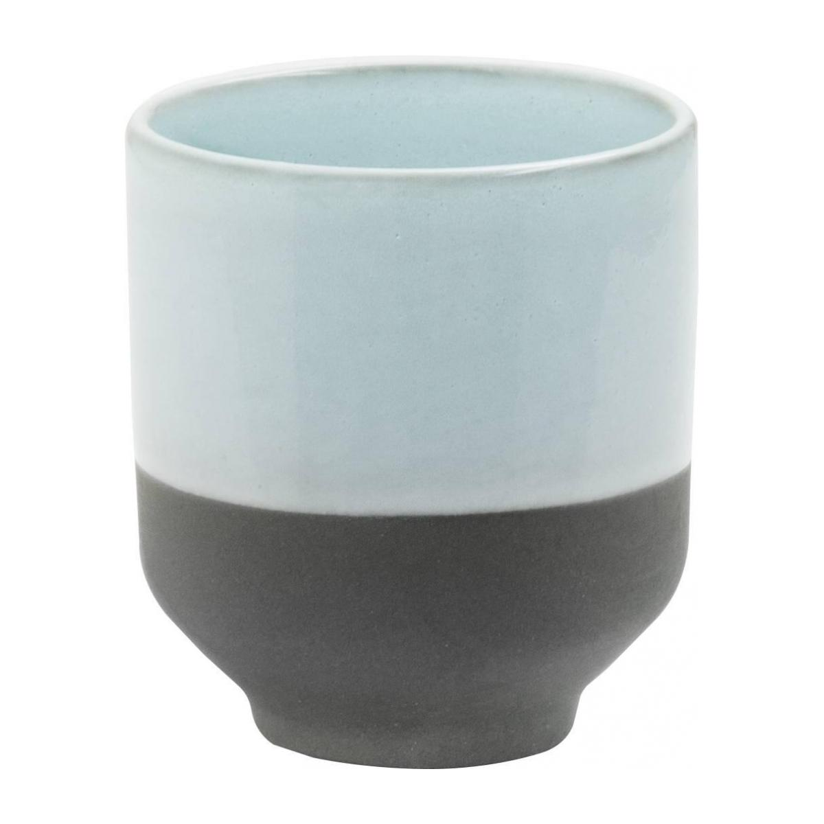 Expresso cup made of porcelain, brown and green - Design by Perla Valtierra n°1