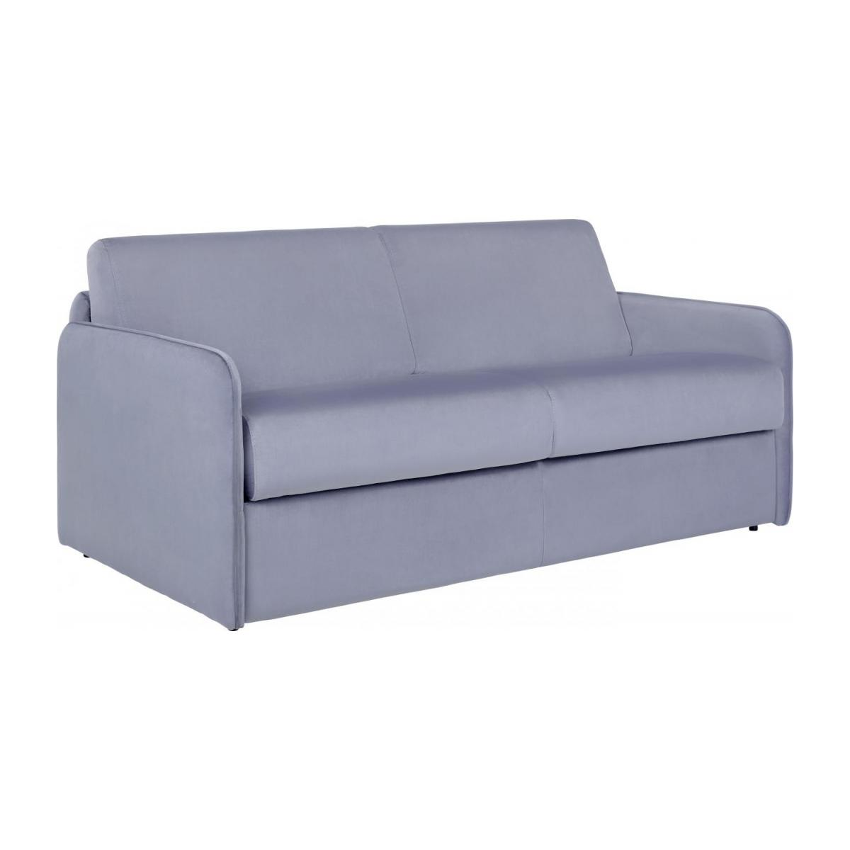 Grey Velvet 3 Seat Fold Out Sofa