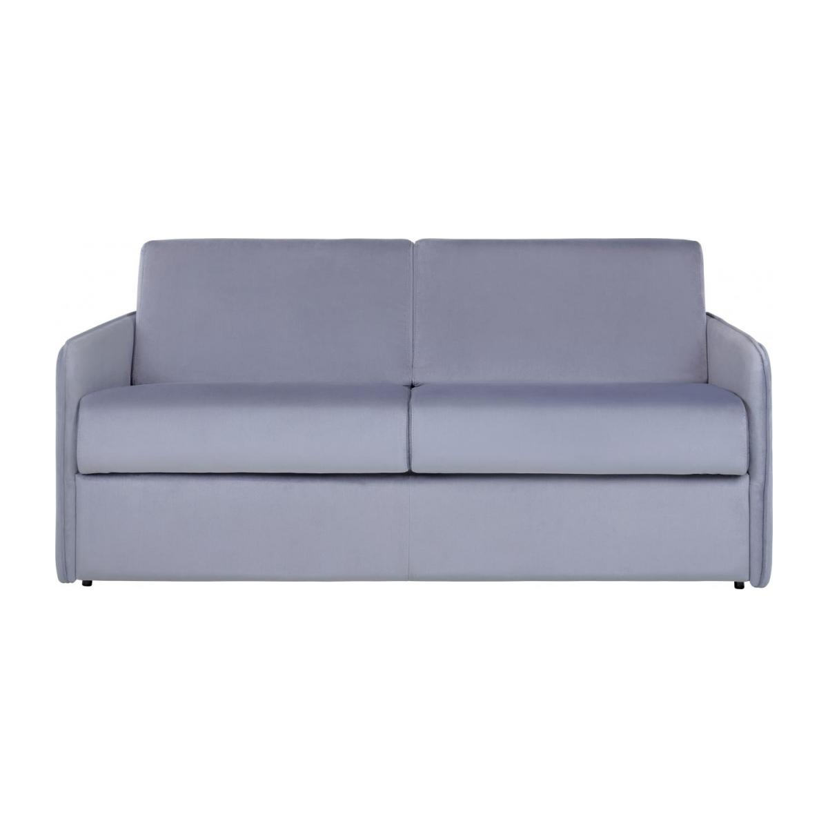 Grey velvet 3 seat fold-out sofa n°4