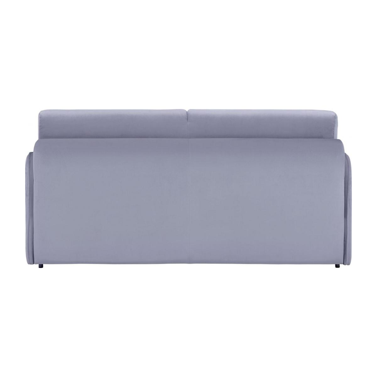 Grey velvet 3 seat fold-out sofa n°5
