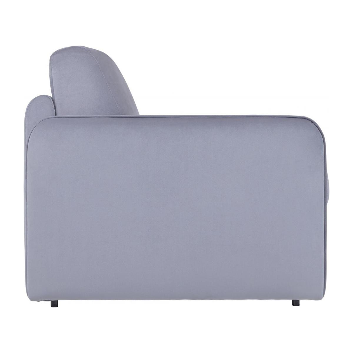 Grey velvet 3 seat fold-out sofa n°6