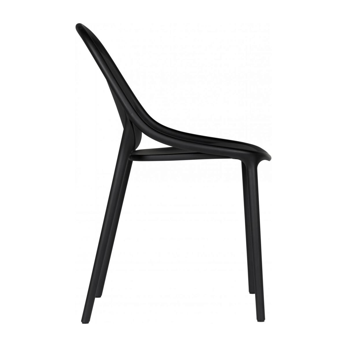 Chaise en polypropylène - Noir - Design by Eugeni Quitllet n°5