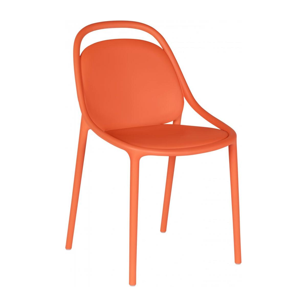 Chaise orange en polypropylène n°1