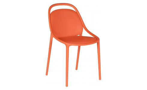 Chaise orange en polypropylène