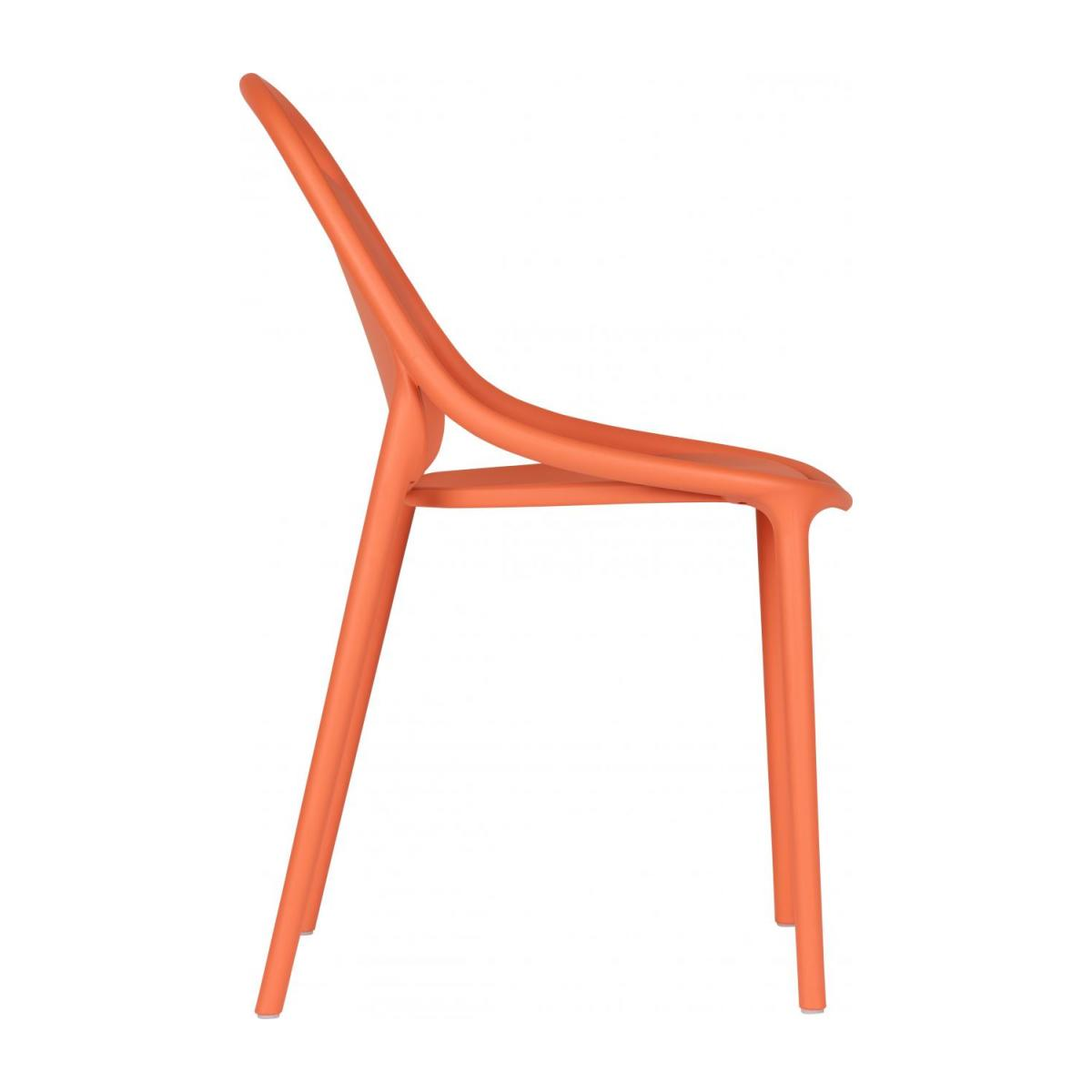Chaise orange en polypropylène n°4