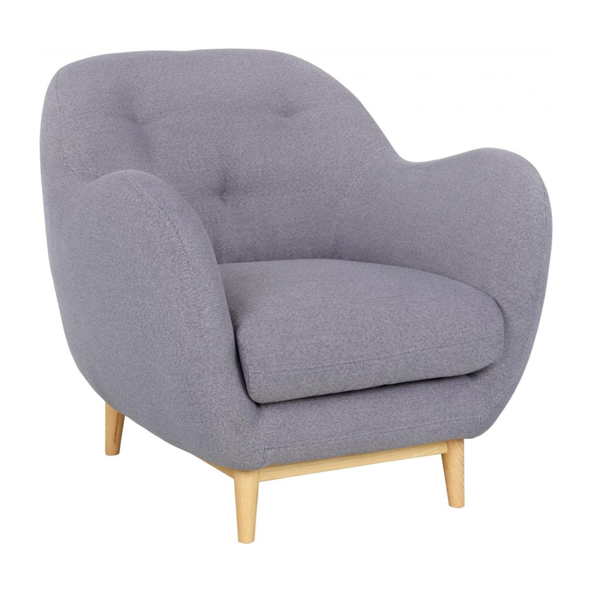 Armchair made of fabric, grey n°1