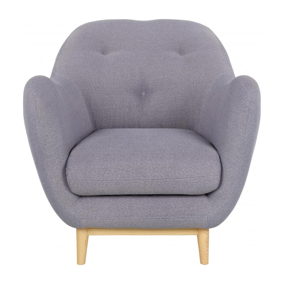 Armchair made of fabric, grey n°2