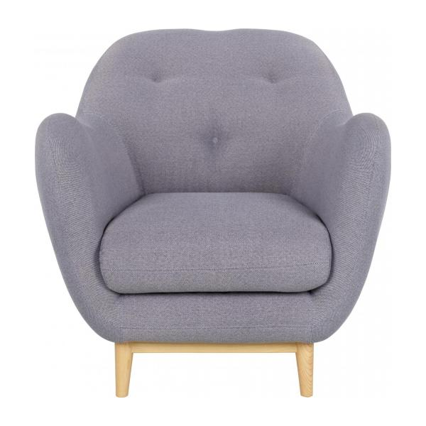 Armchair Made Of Fabric, Grey N°4