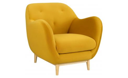 Fauteuil en velours moutarde - Design by Adrien Carvès