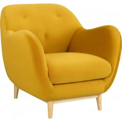 Armchair made of velvet moutarde