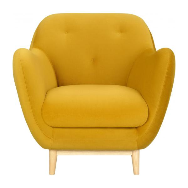 Fauteuil en velours moutarde - Design by Adrien Carvès n°4