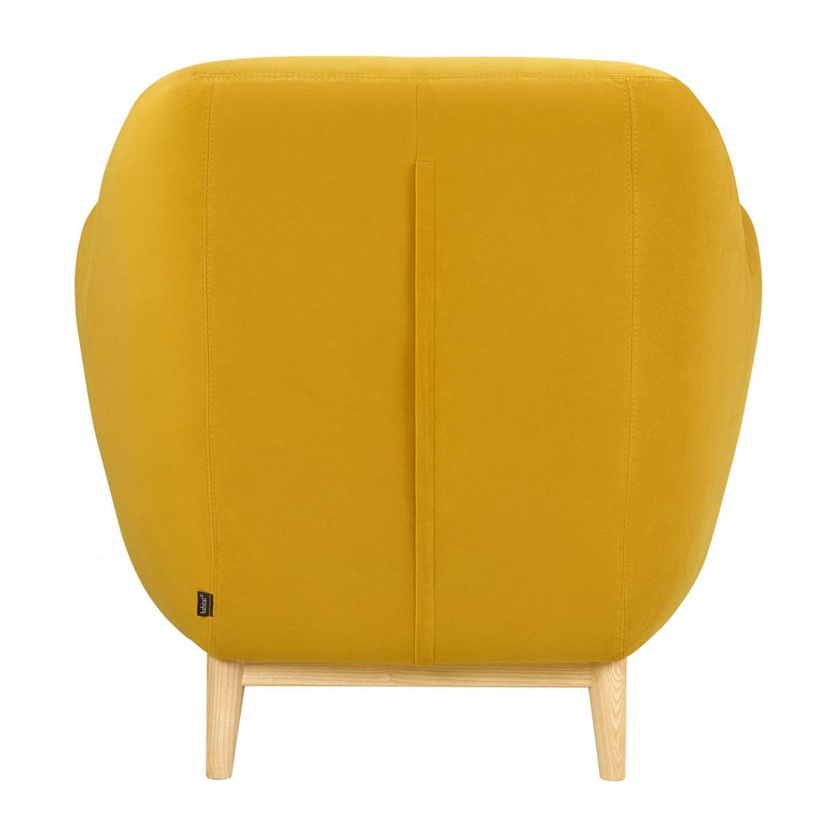 Fauteuil en velours jaune moutarde - Design by Adrien Carvès n°3