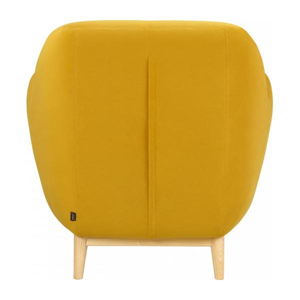 Fauteuil en velours moutarde - Design by Adrien Carvès n°3