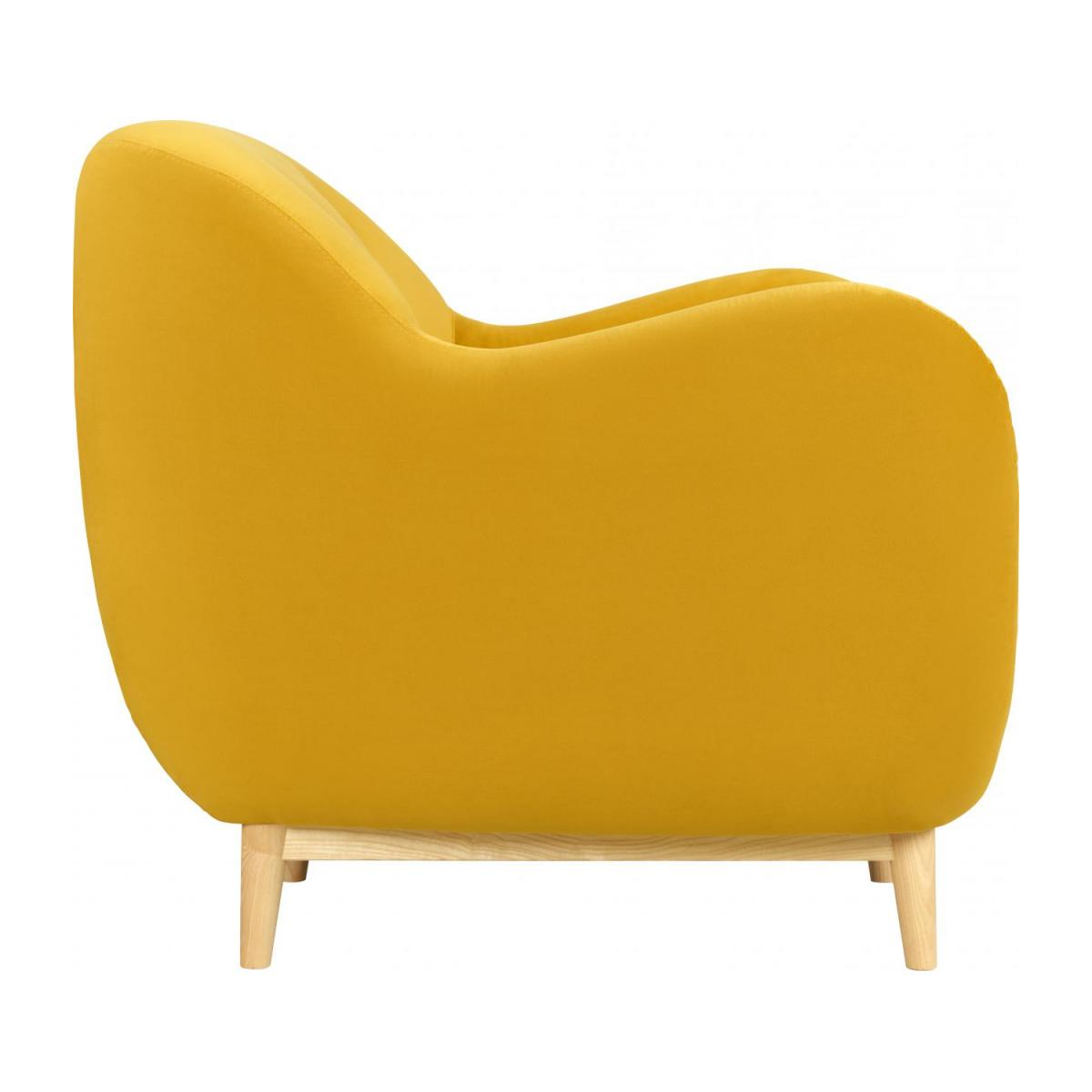 Fauteuil en velours moutarde - Design by Adrien Carvès n°2