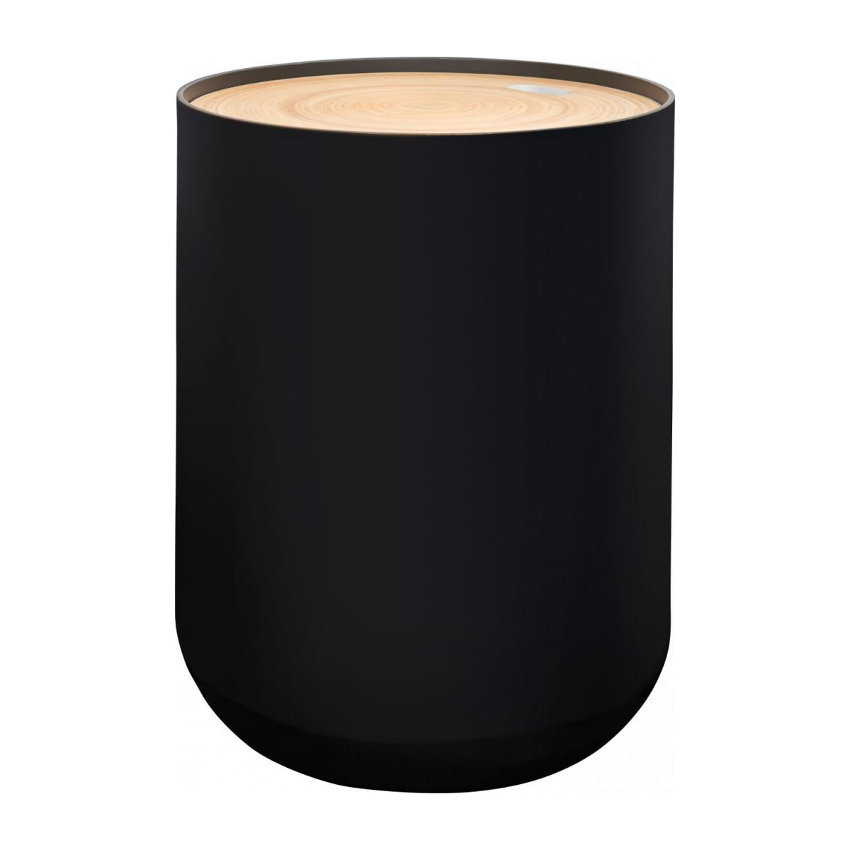Black bamboo side table 40cm n°1