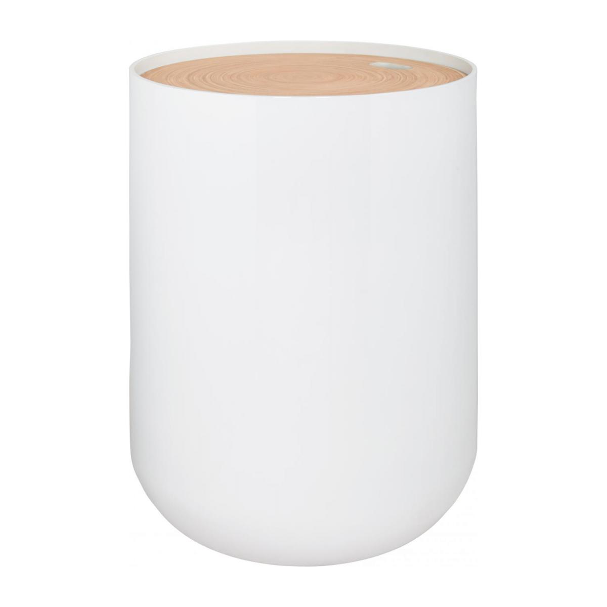 White bamboo side table 40cm n°1
