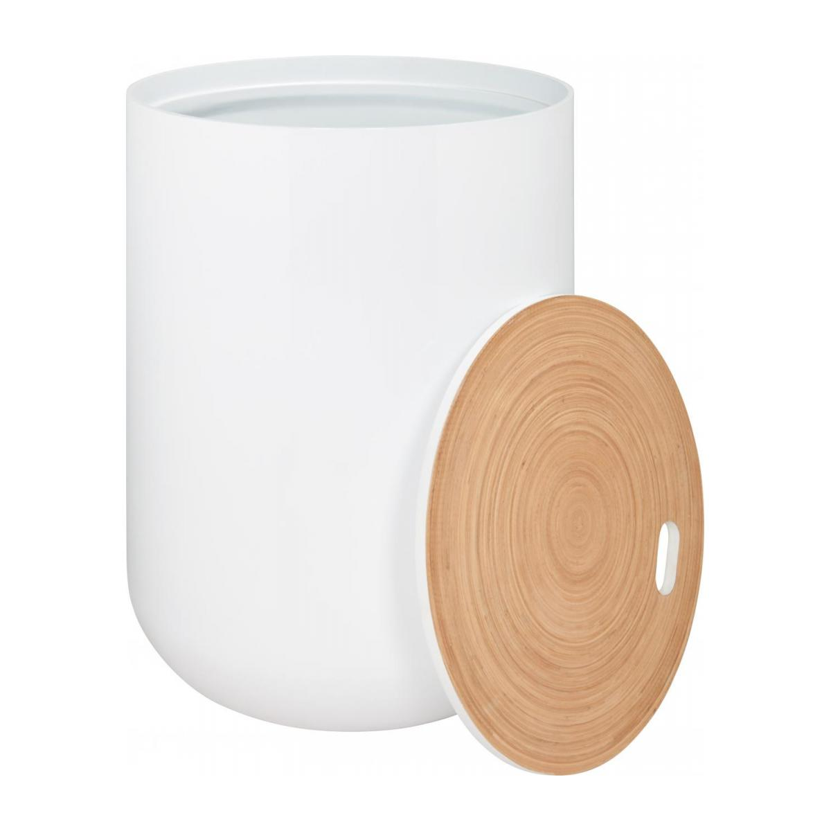 White bamboo side table 40cm n°2