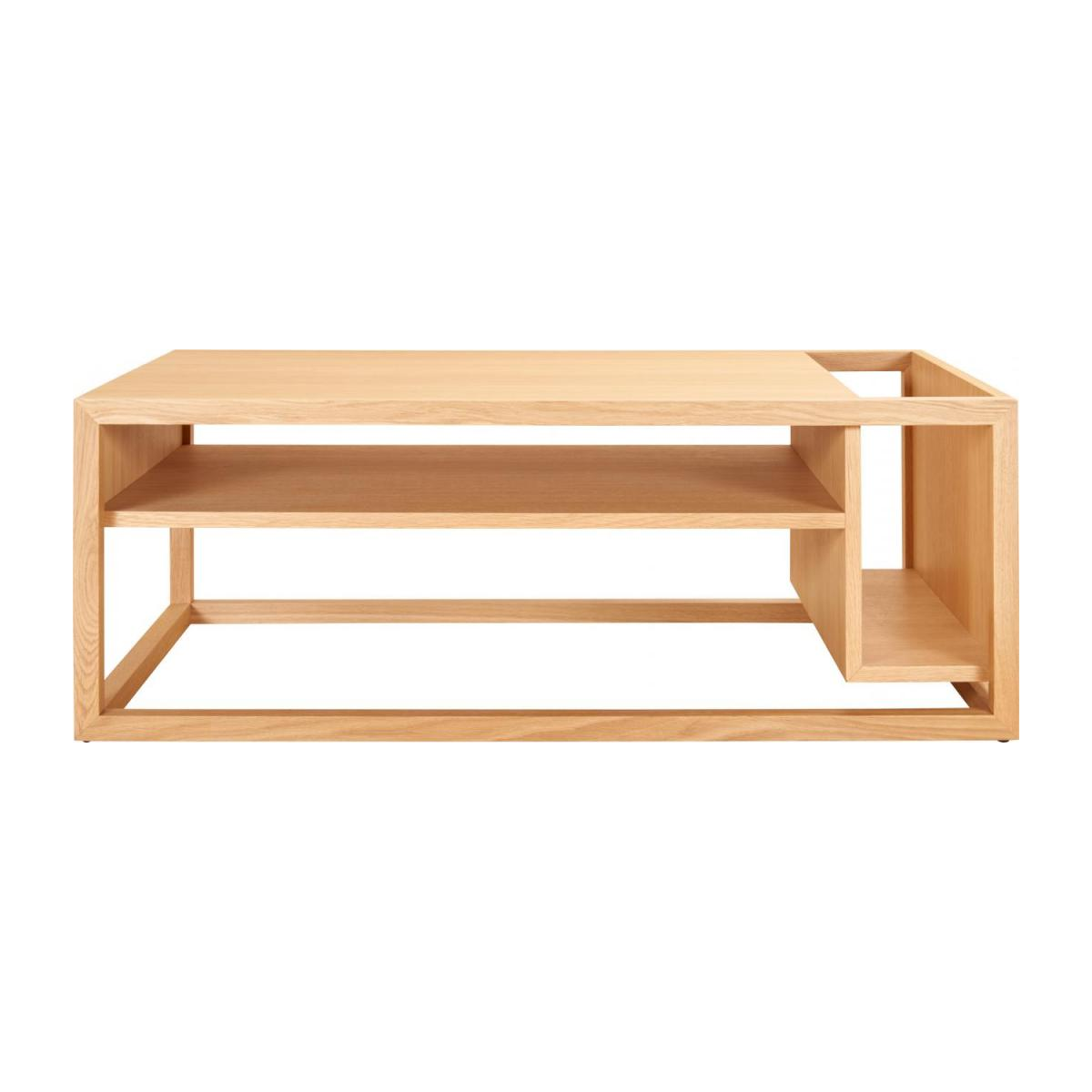 Low table with oak bar n°3