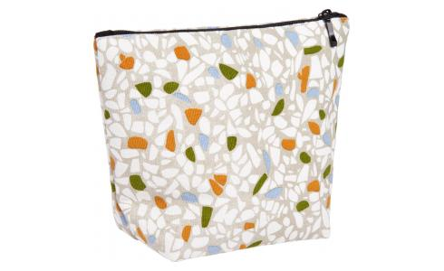 Toiletry bag 18.5x7x15cm, with patterns