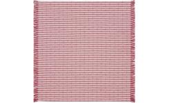 Napkin with stripese made of cotton 45x45cm, red