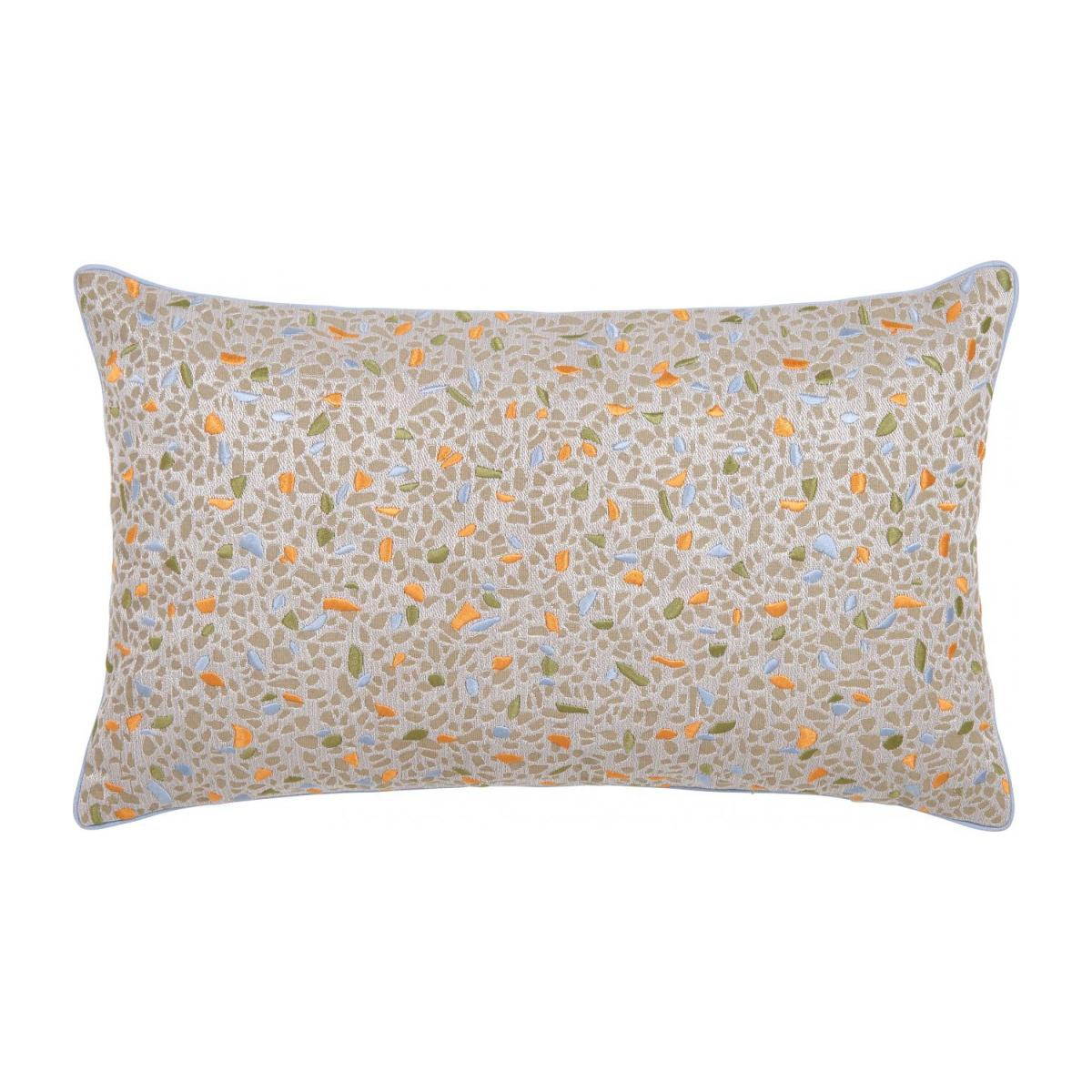 Embroidered jacquard cushion made of cotton 30x50cm n°1