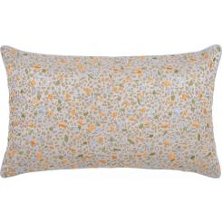 Embroidered jacquard cushion made of cotton 30x50cm