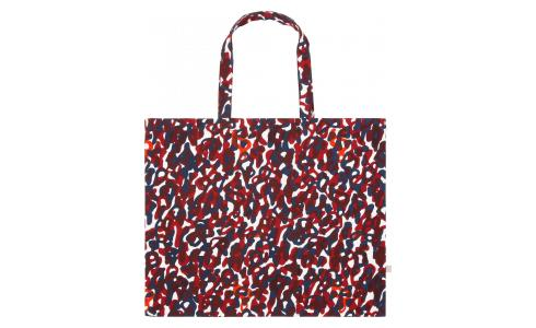 Large shopping bag made of cotton 55x45cm, with patterns