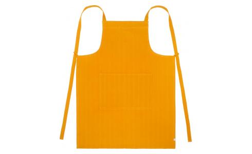 Apron made of cotton, yellow mustard