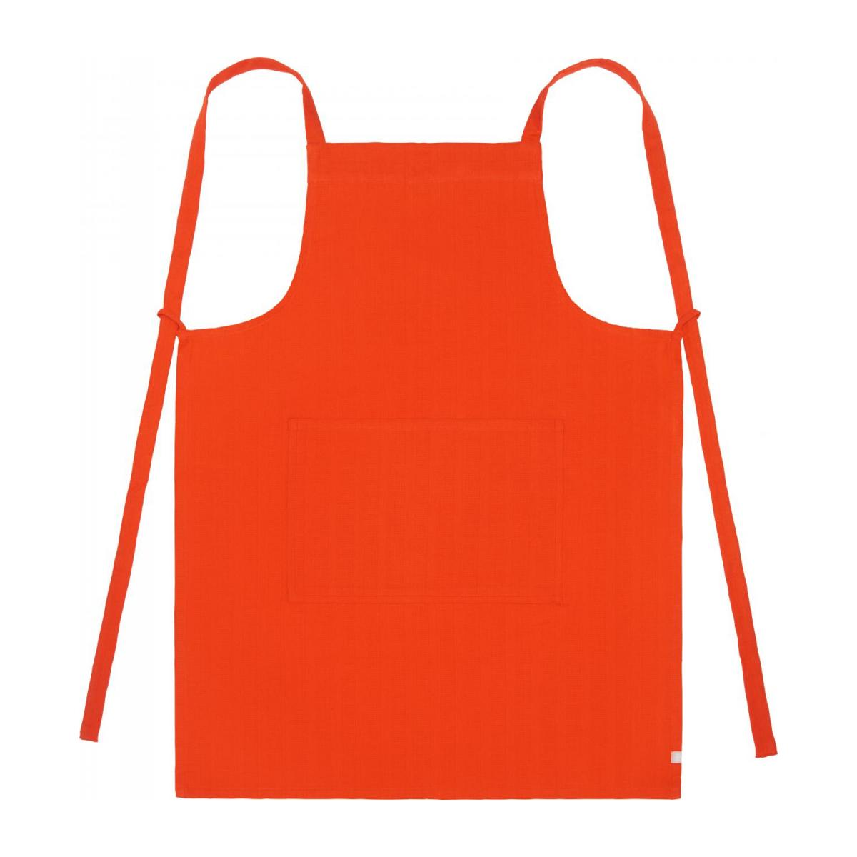 Apron made of cotton, red n°1